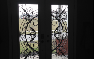 Artica Double Doorlites With Transom - Clear Backglass